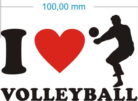 volleyball aufkleber