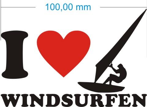 windsurfen aufkleber