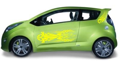 hibiskus aufkleber auto2