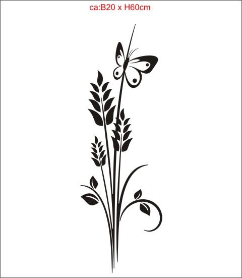 blumen floral aufkleber M002