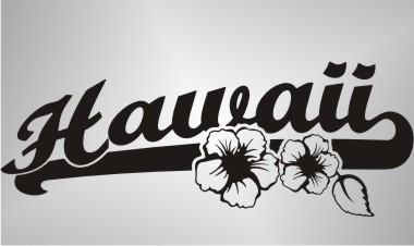 blumen aufkleber beach hawaii