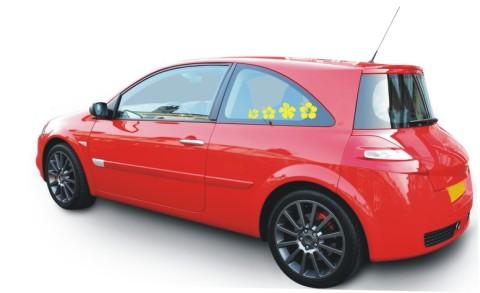 hibiskus blumenaufkleber auto