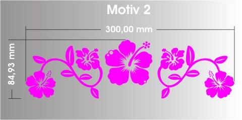hibiskus aufkleber M2 blume