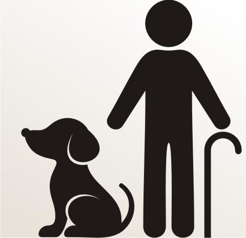 aufkleber opa mit hund an bord piktogramm