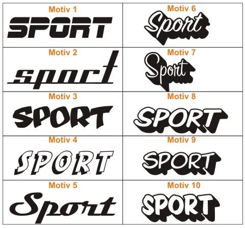 sport racing autoaufkleber