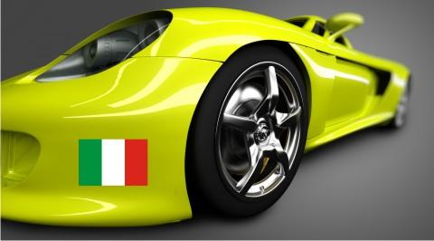 italien flagge aufkleber
