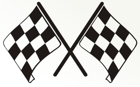 racing flagge aufkleber