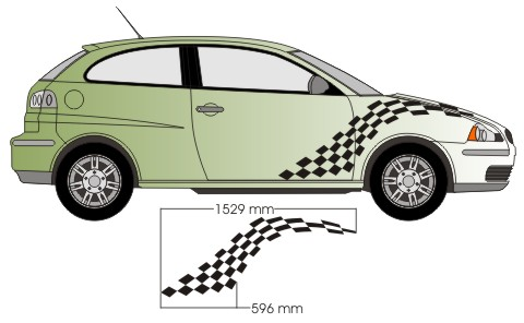 kotflügel racing flagge