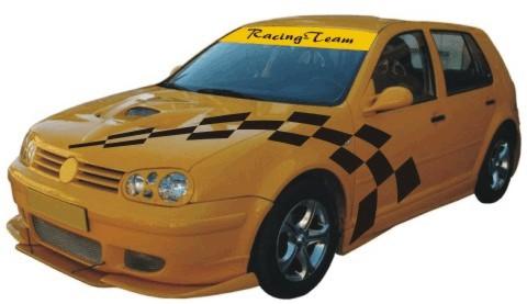 kotflügel racing flagge auto