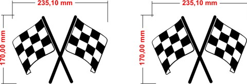 racingstreifen flaggen racingaufkleber