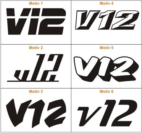 sport v12 autoaufkleber