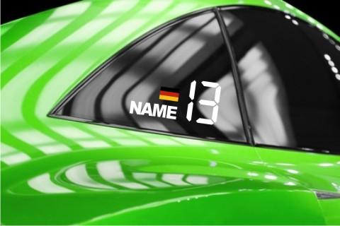 name fahne startnummer