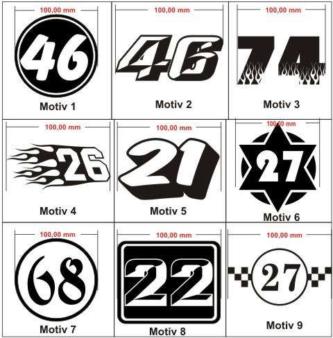 startnummer rally racing rennnummer aufkleber