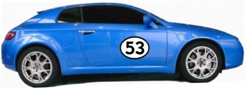zweifarbige startnummer racing