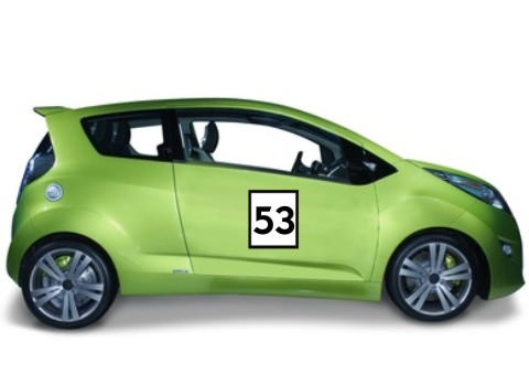 zweifarbige rennnumer aufkleber m3