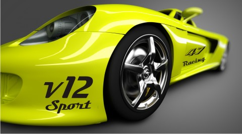 v12 sport autoaufkleber