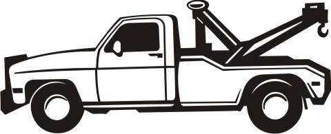 abschleppfahrzeug aufkleber
