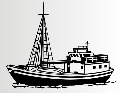 fangschiff aufkleber