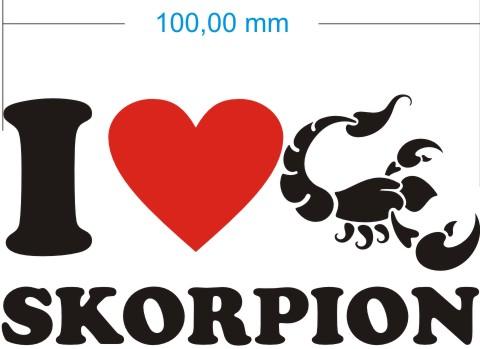 love scorpio skorpion aufkleber