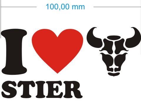 love stier taurus aufkleber