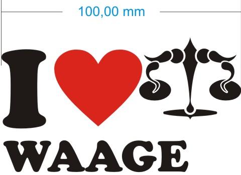 love libra waage aufkleber