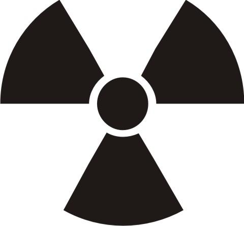 radioaktiv - atom aufkleber