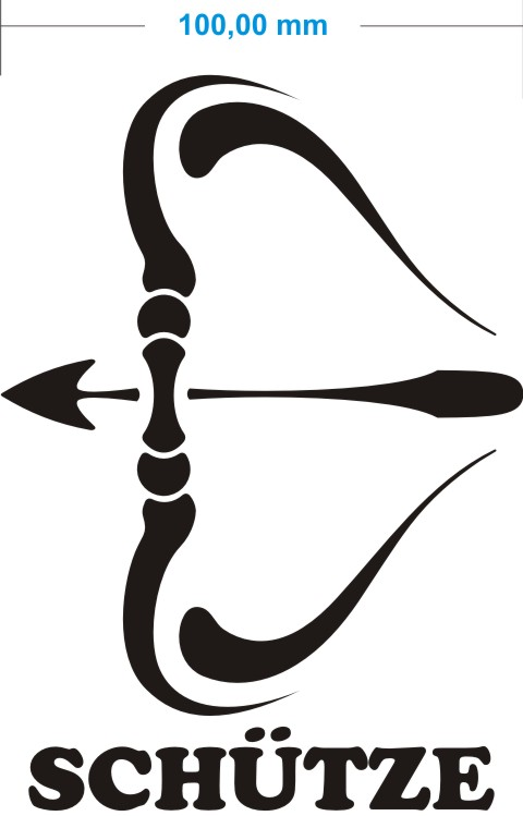 schuetze sagittarius aufkleber sternzeichen