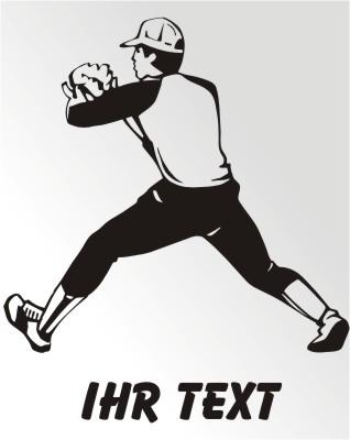 baseball fielder aufkleber