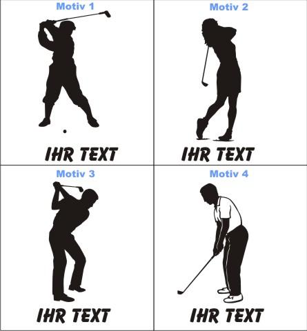golf golfer aufkleber