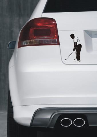 aufkleber golf sport sticker golfspieler