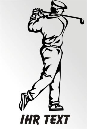 golf spieler aufkleber