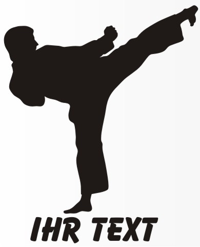 karate aufkleber sport