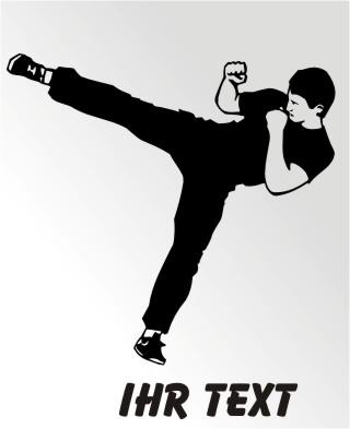 karate aufkleber