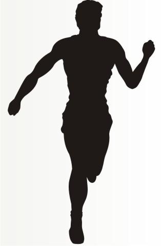 laeufer joggen marathon aufkleber