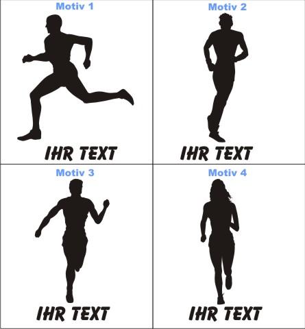 laufen joggen marathon  aufkleber