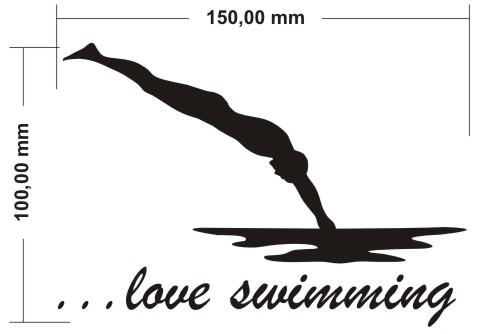 love swimming aufkleber