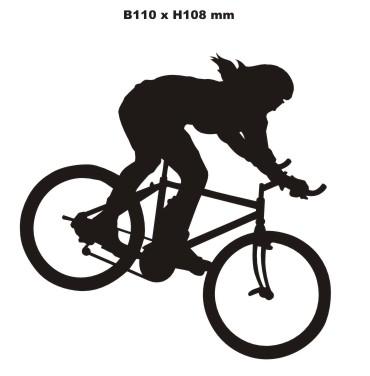 mountain biker aufkleber