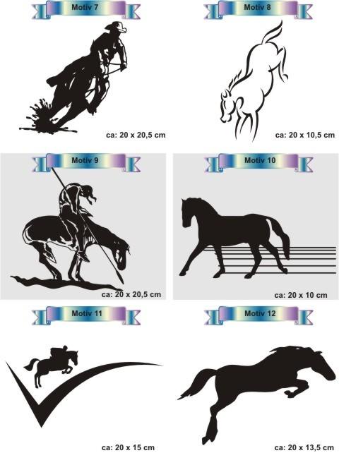 pferdesport aufkleber pferd