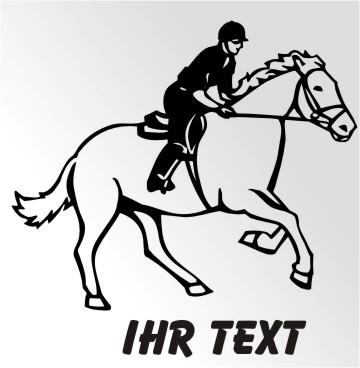 pferdesport pferde aufkleber