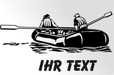 Schlauchboot Sticker