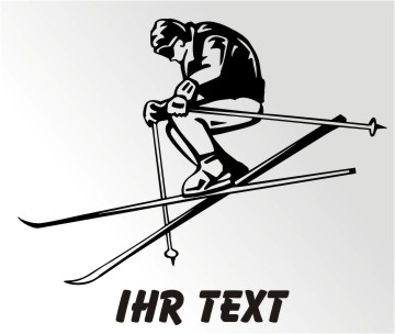 skifahrer ski aufkleber