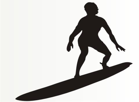 surfer sport aufkleber