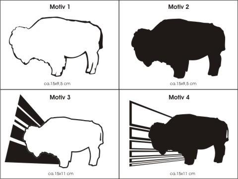 aufkleber bison wisent