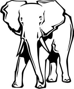 elefant aufkleber