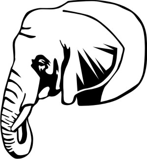 elefant dr aufkleber