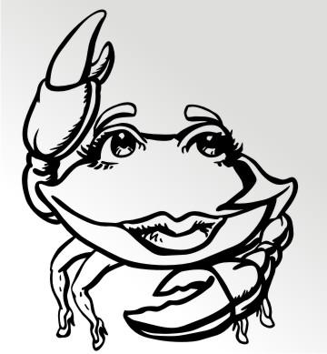 lady krabben autoaufkleber