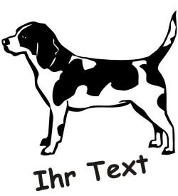 beagle 02 hundeaufkleber