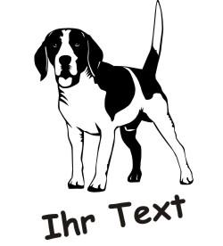 beagle dr hundeaufkleber