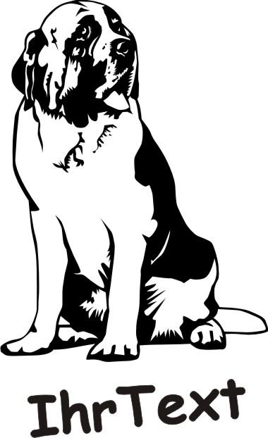 bernhardiner hundeaufkleber