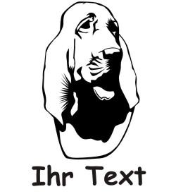 bloodhound hundeaufkleber 01DR